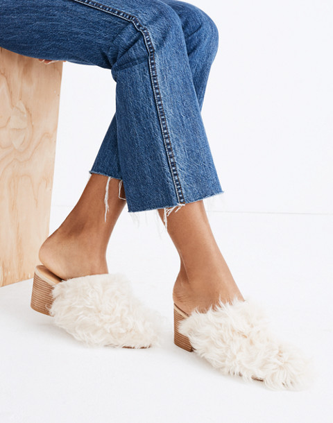 The Harper Mule in Mongolian Shearling in hthr sand image 2