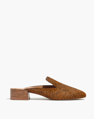 The Willa Loafer Mule in Spotted Calf Hair in bittersweet image 3