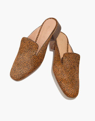 The Willa Loafer Mule in Spotted Calf Hair in bittersweet image 1