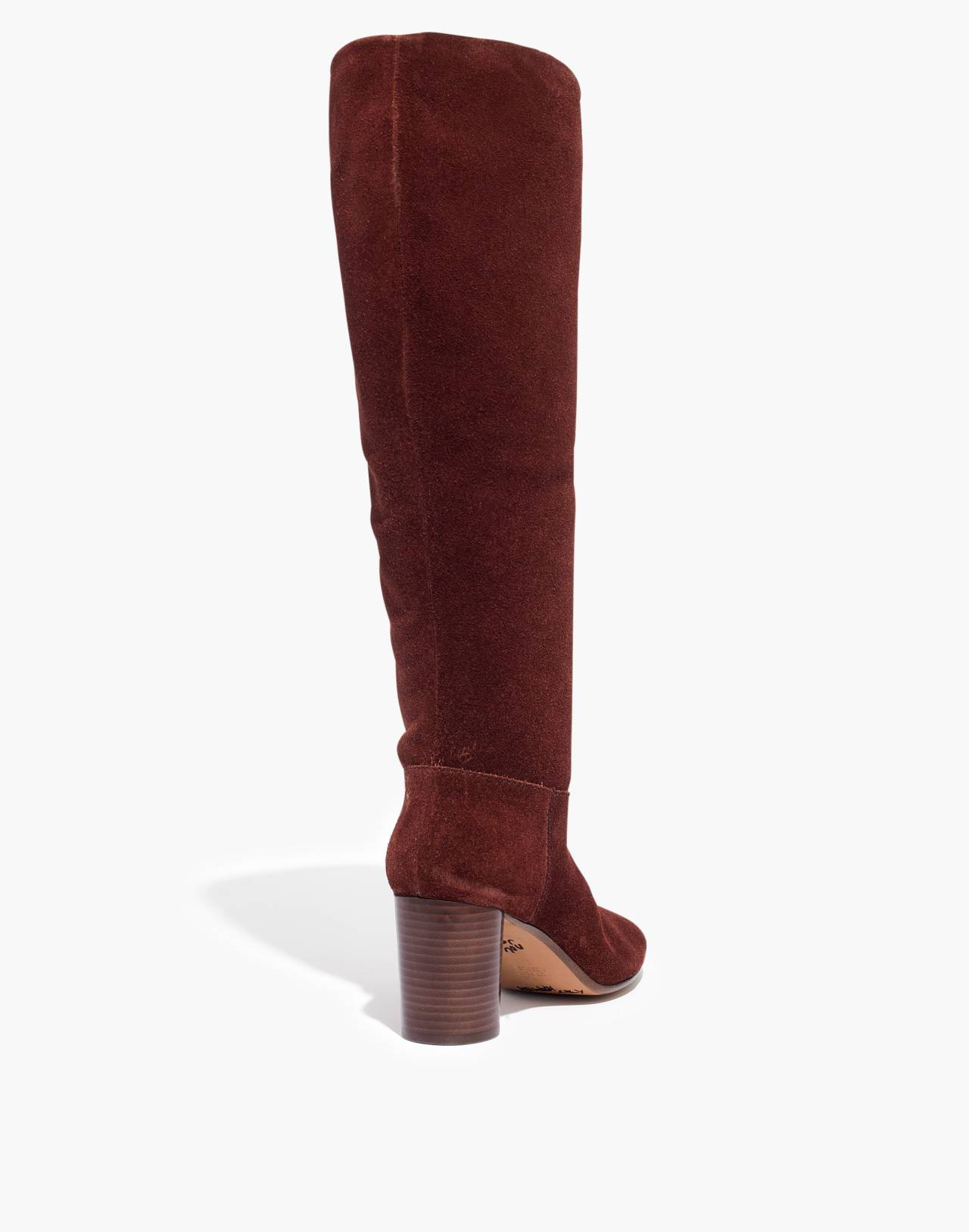 The Scarlett Tall Boot in Suede in rich brown image 4