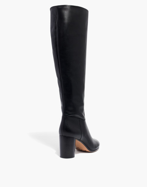 The Scarlett Tall Boot in Leather in true black image 3
