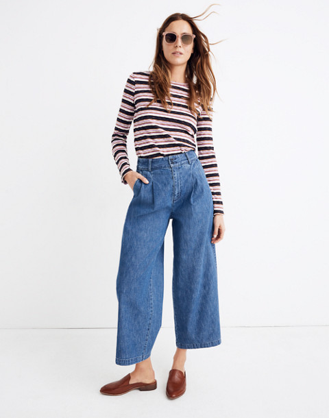 Petite Pleated Wide Leg Jeans by Madewell