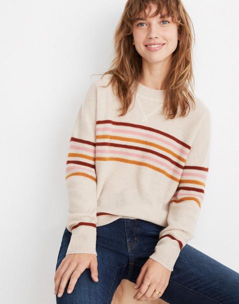 Cashmere Sweatshirt in Hendry Stripe in hthr powder image 2
