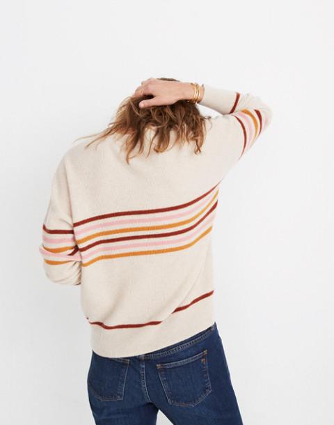 Cashmere Sweatshirt in Hendry Stripe in hthr powder image 3