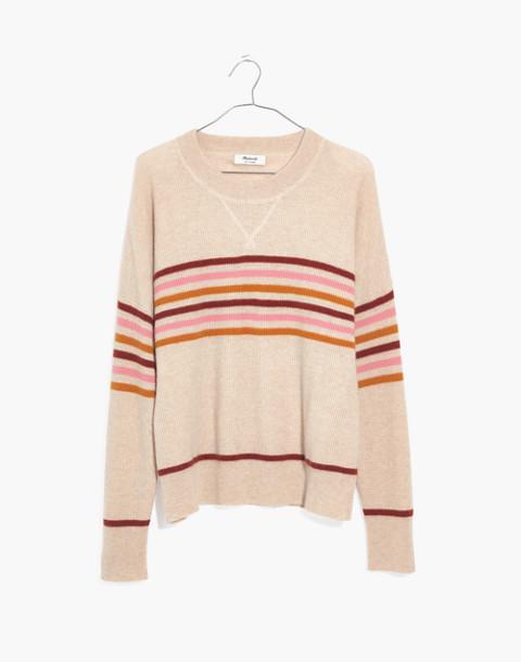 Cashmere Sweatshirt in Hendry Stripe in hthr powder image 4