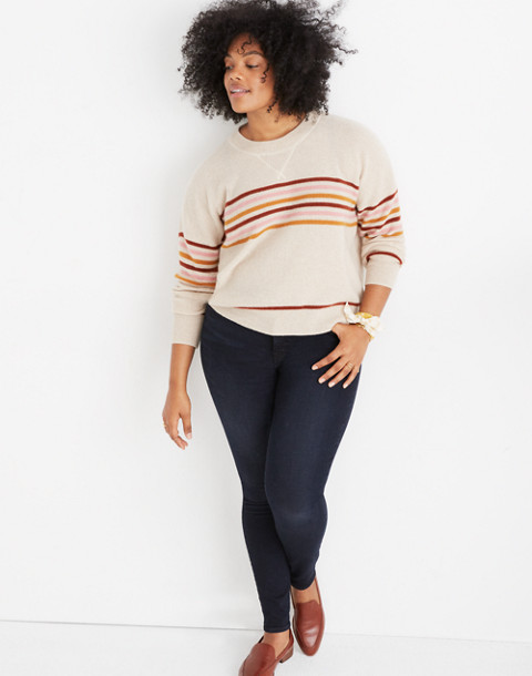 Cashmere Sweatshirt in Hendry Stripe in hthr powder image 1