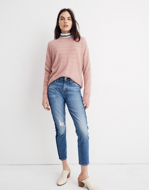 Cashmere Sweatshirt in pink clay image 2