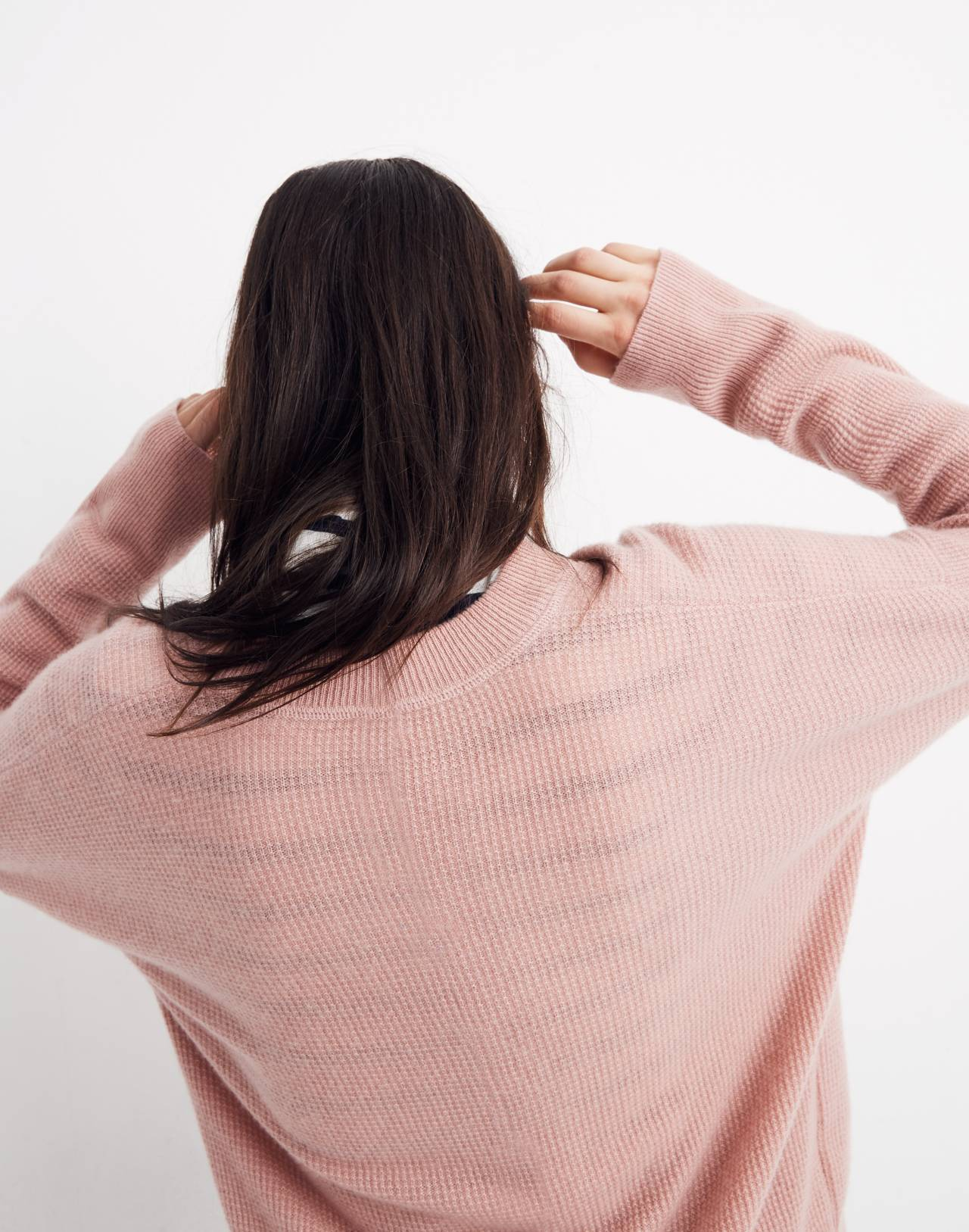 Cashmere Sweatshirt in pink clay image 3