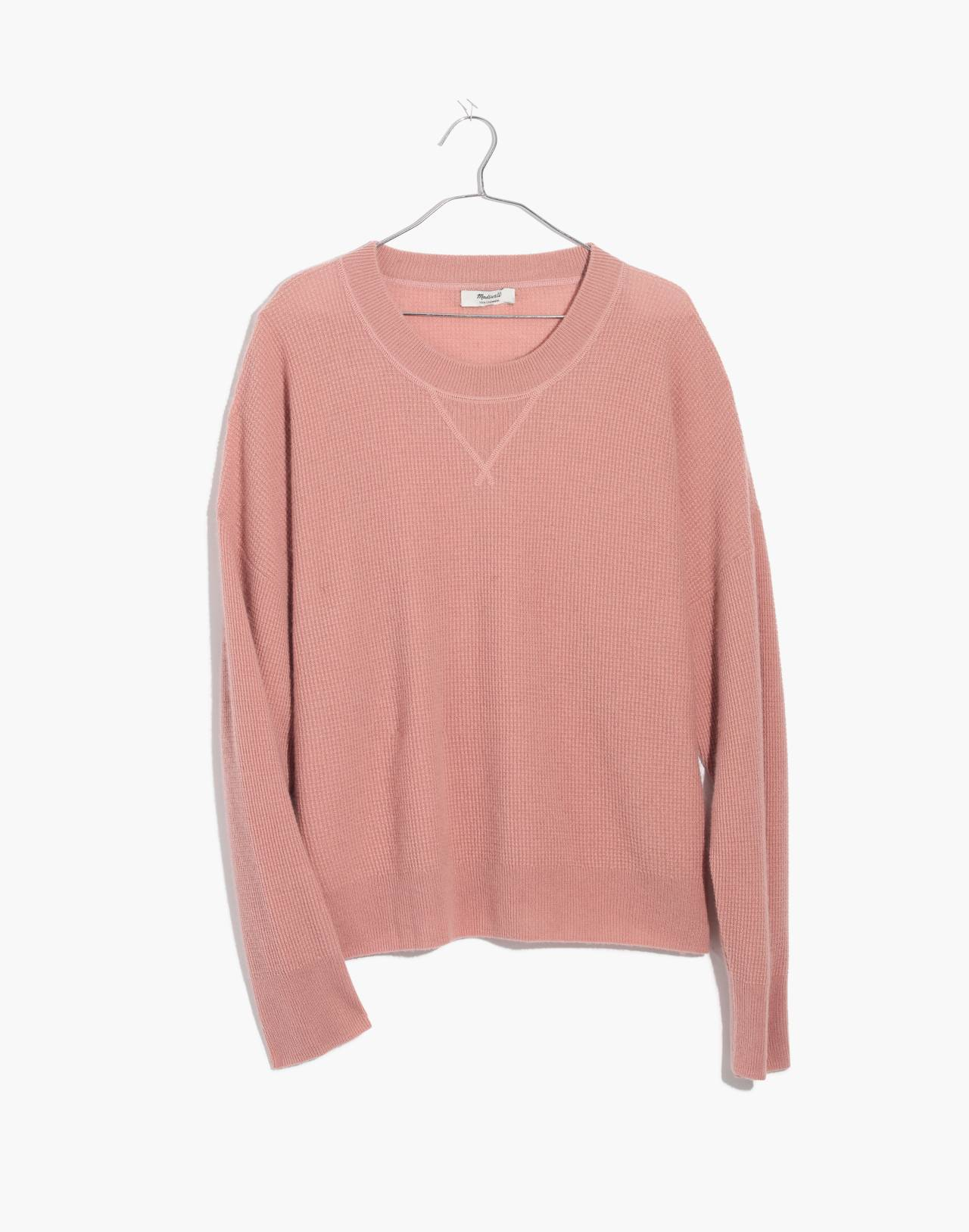 Cashmere Sweatshirt in pink clay image 4