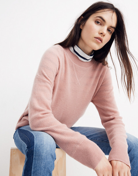 Cashmere Sweatshirt in pink clay image 1