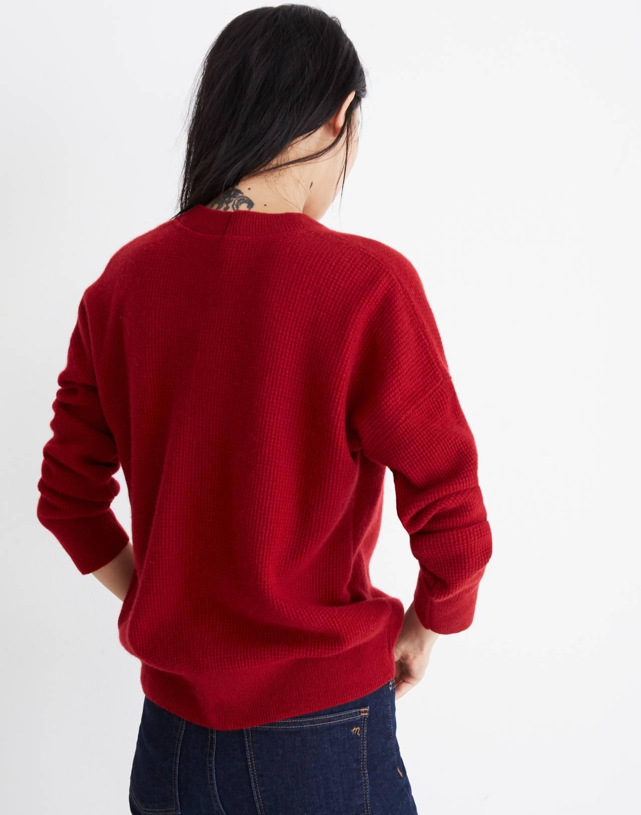 Cashmere Sweatshirt in crimson red image 3