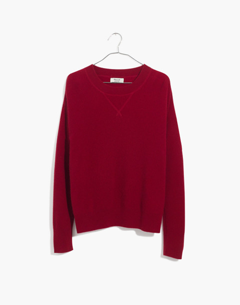 Cashmere Sweatshirt in crimson red image 4
