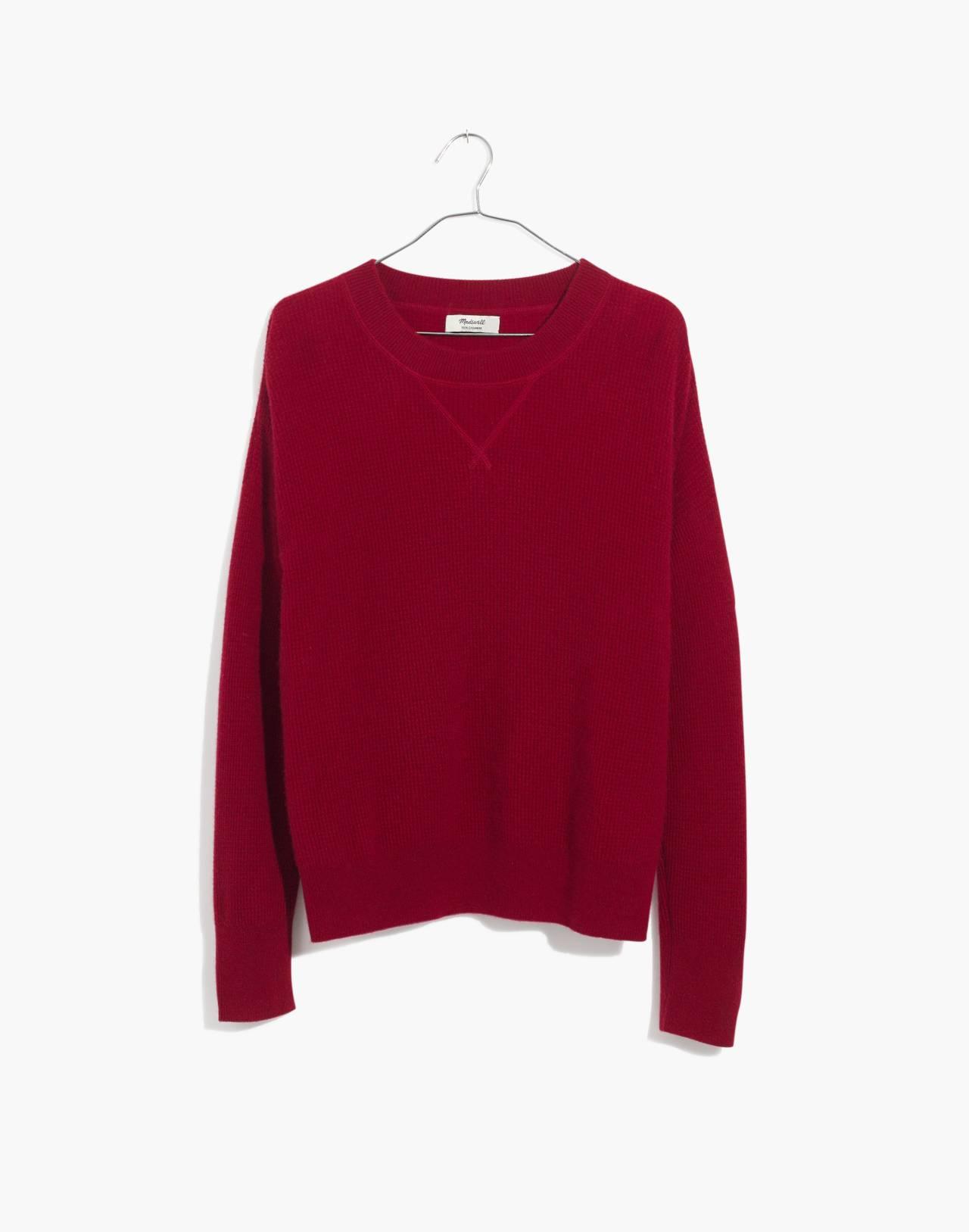 Cashmere Sweatshirt in crimson red image 4