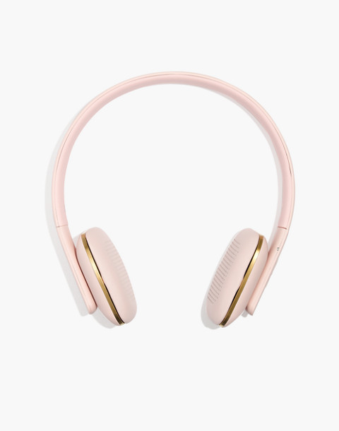 Kreafunk™ aHead Wireless Bluetooth Headphones in dusty pink image 1