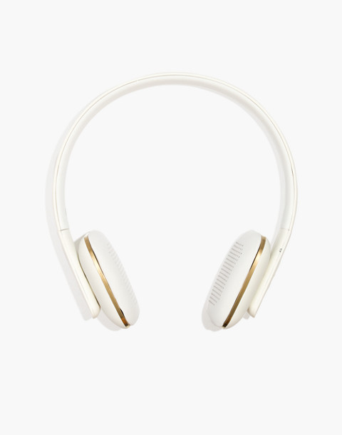 Kreafunk™ aHead Wireless Bluetooth Headphones in white image 1
