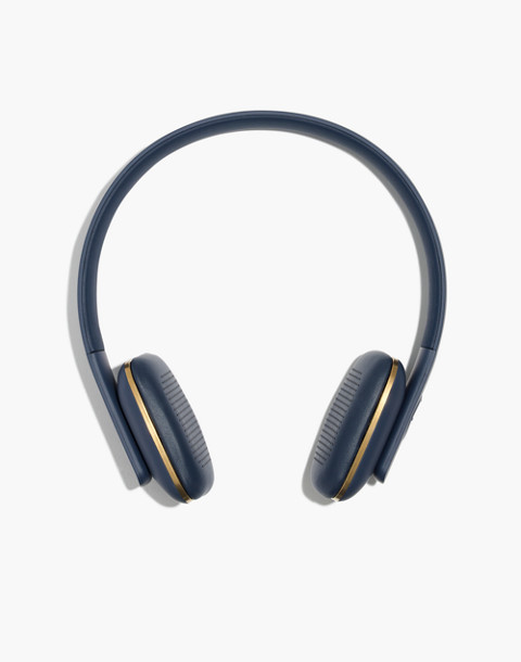 Kreafunk™ aHead Wireless Bluetooth Headphones in blue image 1