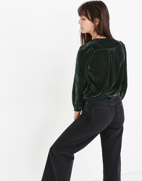Velvet Wrap Top in smoky spruce image 3