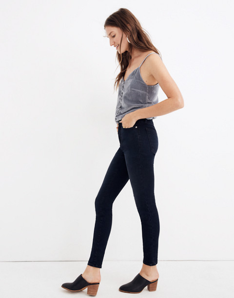 """9"""" High-Rise Skinny Jeans in Cold Blue Wash in cold blue image 2"""