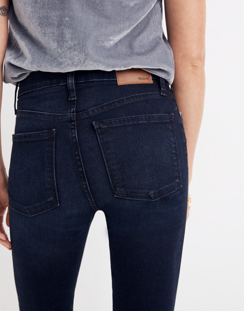 """9"""" High-Rise Skinny Jeans in Cold Blue Wash in cold blue image 3"""