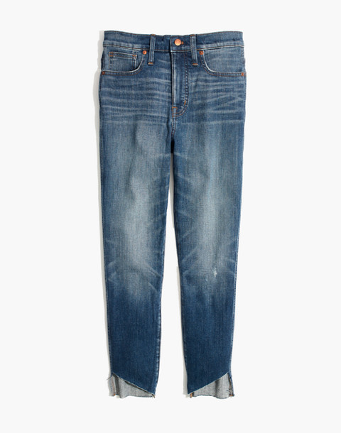 "10"" High-Rise Skinny Jeans: Cutout Tulip Hem Edition in matson wash image 4"