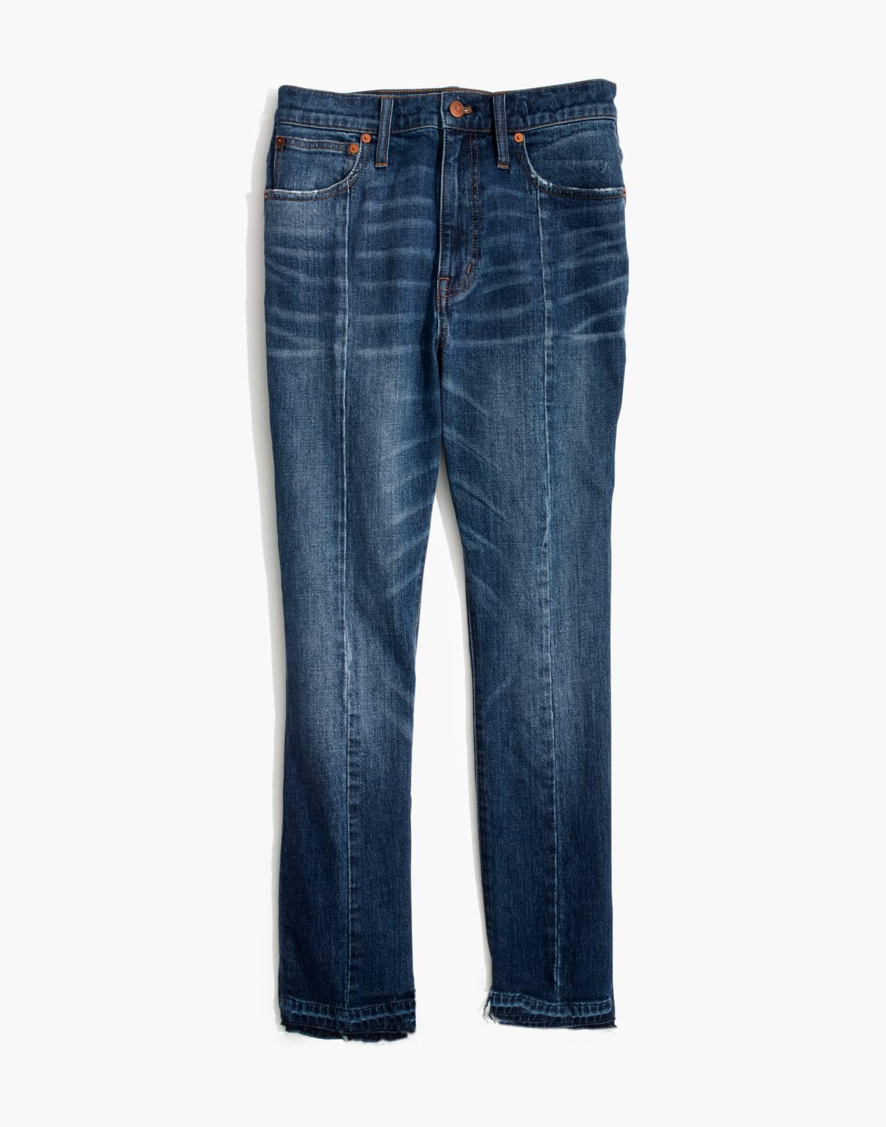The High-Rise Slim Boyjean: Seamed Edition in milton wash image 4