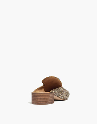 The Willa Loafer Mule in Glitter in smoky gold image 4