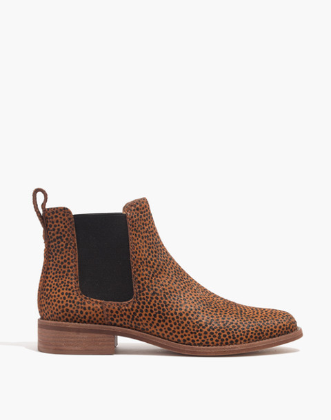 The Ainsley Chelsea Boot in Spotted Calf Hair in bittersweet image 2