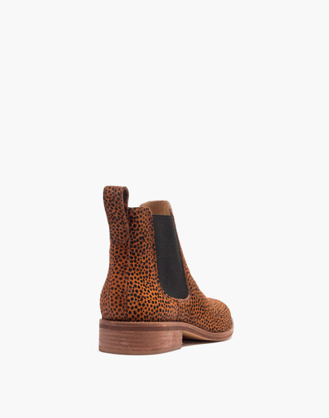 The Ainsley Chelsea Boot in Spotted Calf Hair in bittersweet image 3