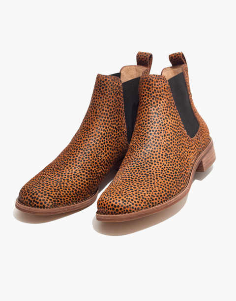 The Ainsley Chelsea Boot in Spotted Calf Hair in bittersweet image 1