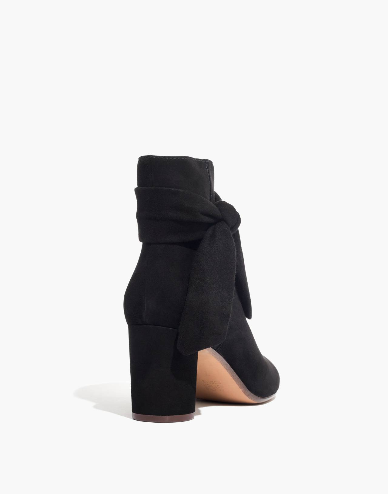 The Esme Bow Boot in Suede in true black image 4