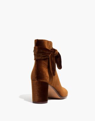 The Esme Bow Boot in Velvet in burnished cedar image 3