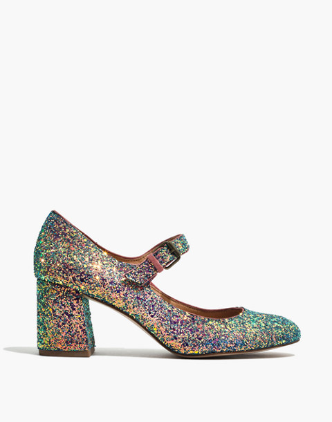 The Zelda Mary-Jane Pump in Glitter in violet multi image 3