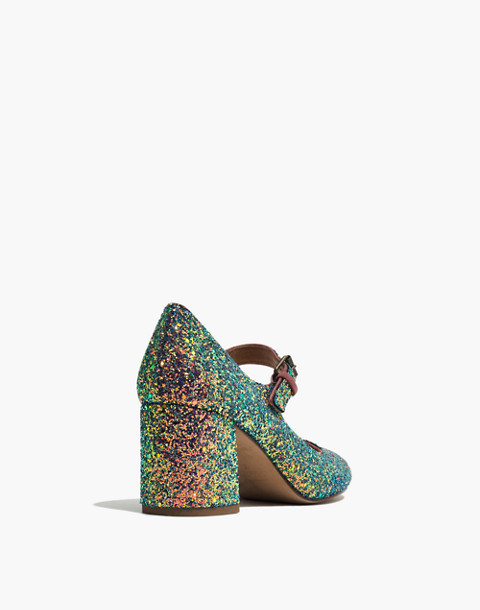 The Zelda Mary-Jane Pump in Glitter in violet multi image 4