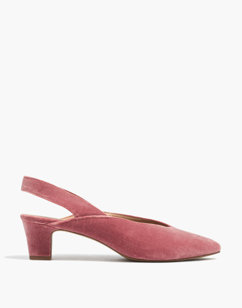 The Etta Slingback Pump in Velvet in autumn berry image 3