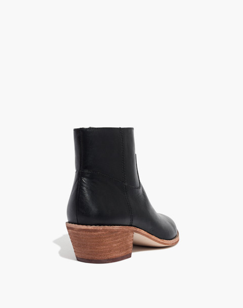 The Charley Boot in Leather in true black image 4