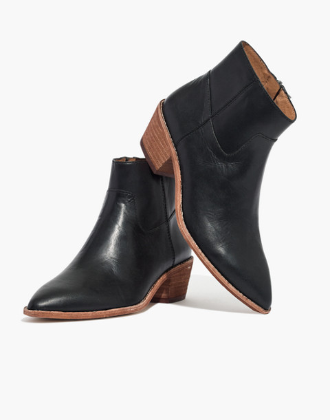 The Charley Boot in Leather in true black image 1