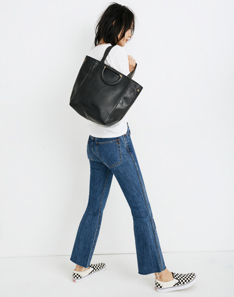 The Holland Tote Bag in true black image 2