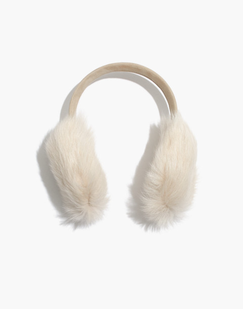Madewell x Owen Barry™ Shearling Ear Muffs in toscana ecru image 1