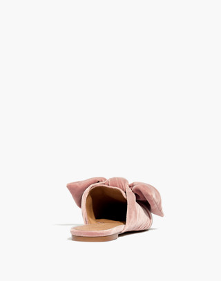 The Remi Bow Mule in Velvet in mauve shadow image 4