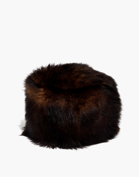 Madewell x Owen Barry™ Shearling Trooper Hat in moscat image 1