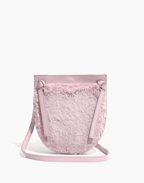 The Knot Crossbody Bag in Faux Fur in wisteria dove image 1
