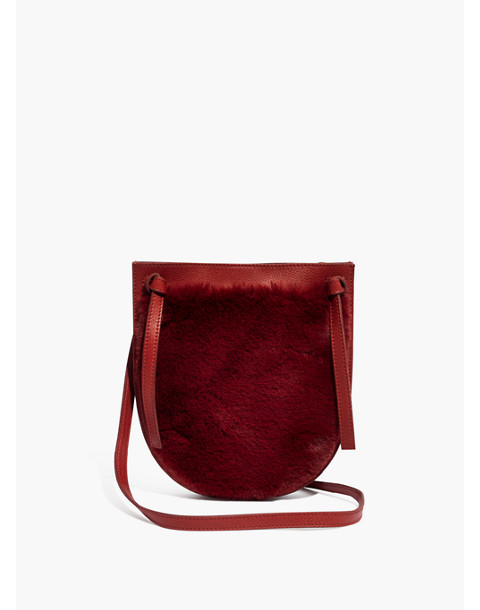 The Knot Crossbody Bag in Faux Fur in canterbury red image 1