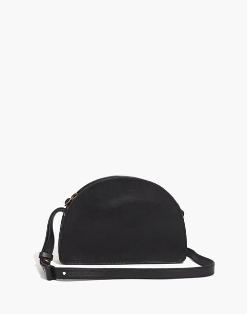 The Simple Half-Moon Crossbody Bag in true black image 1