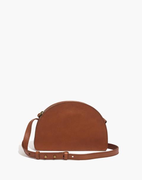 The Simple Half-Moon Crossbody Bag in english saddle image 1