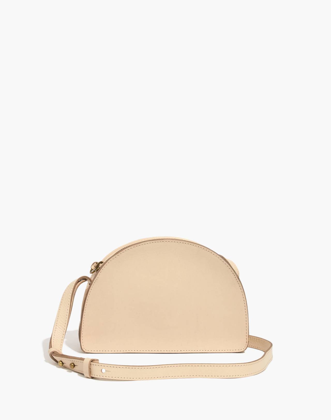 The Simple Half-Moon Crossbody Bag in faded wicker image 1