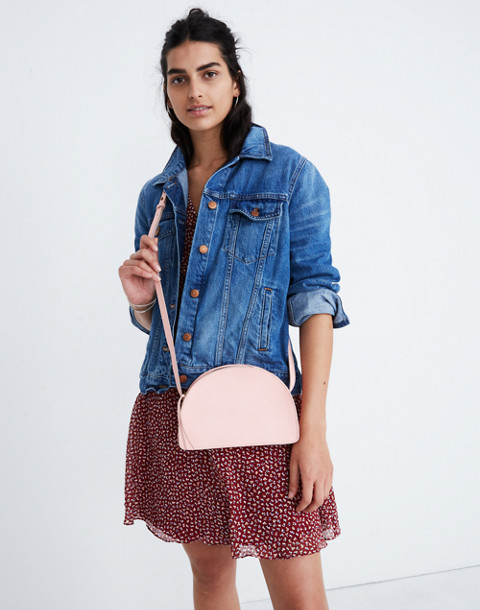 The Simple Half-Moon Crossbody Bag in light blossom image 2