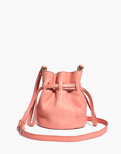 The Florence Drawstring Crossbody Bag In Leather