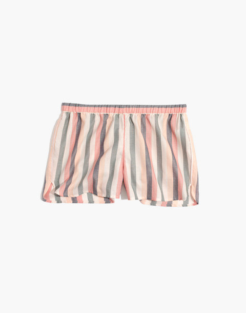 Flannel Bedtime Pajama Top in Lonnie Stripe in sweet dahlia jessie stripe image 4