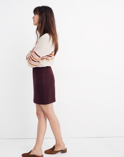 Fireside Mini Skirt in rich plum image 2