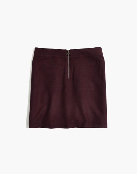 Fireside Mini Skirt in rich plum image 4